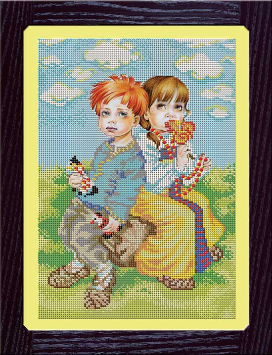 Набор вышивания бисером для детей