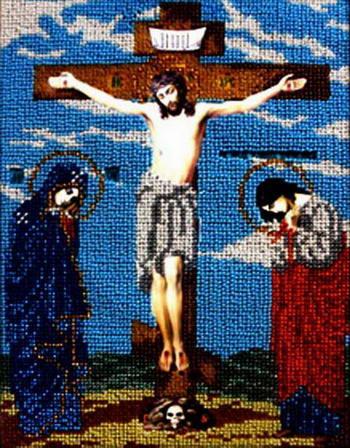 Вышивка крестом схема распятие христа 37